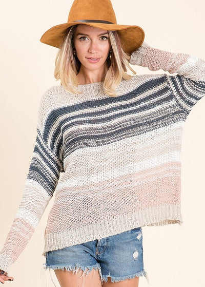 Ocean-Side Striped Sweater