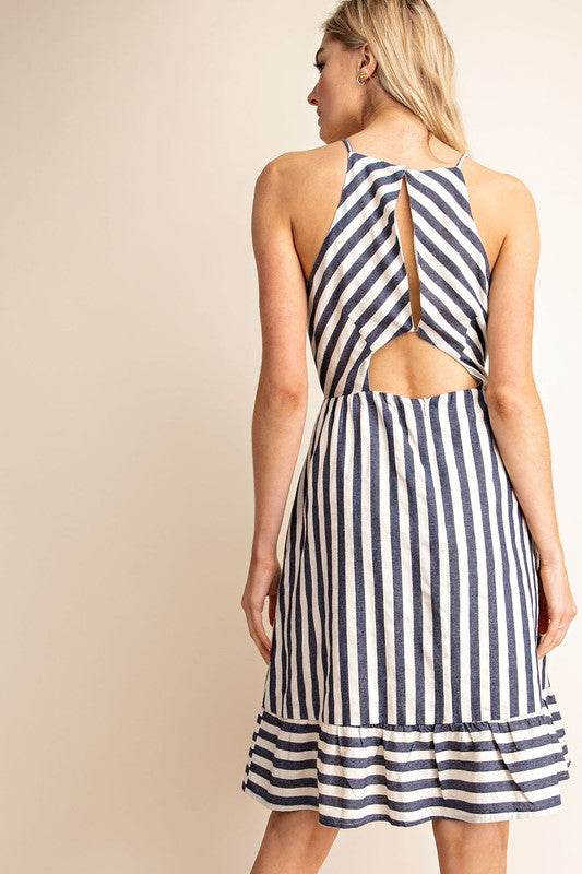 Bethany Short Striped Dress