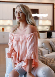 Georgia Peach Off Shoulder Top