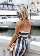 Load image into Gallery viewer, Navy Striped Jumpsuit