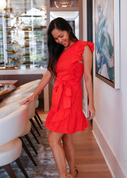 Red Hott One Shoulder Mini