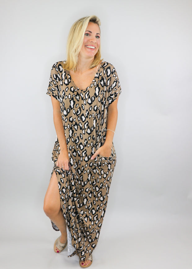Over-sized Leopard Maxi