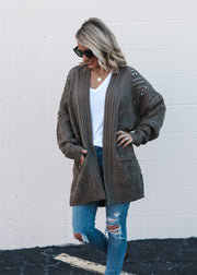 Cozy Knit Cardigan in Olive