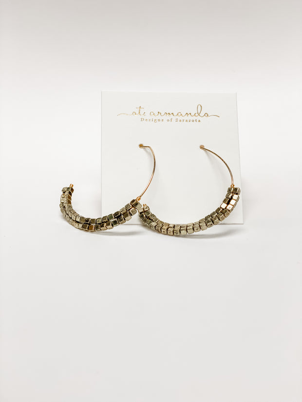 Gold Beaded Threaders by St. Armands Designs