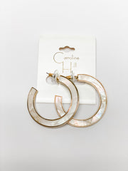 Abster Flat Shell Hoop by Caroline Hill