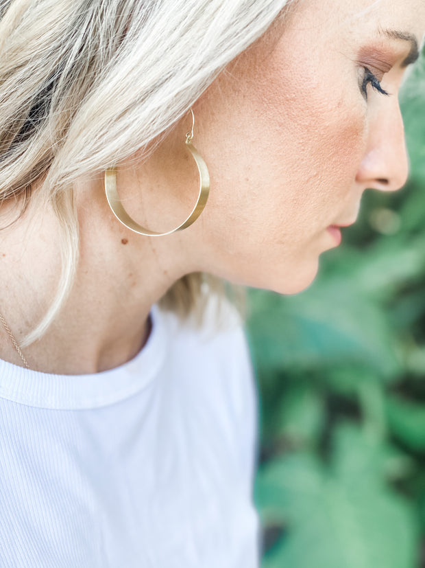 Brassy Statement Earrings by Rover & Ken