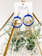 Silk Wrapped Fringe Earrings by Rover & Kin