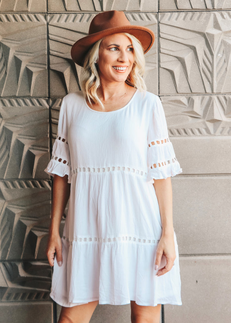 Daisy Solid Tiered Dress