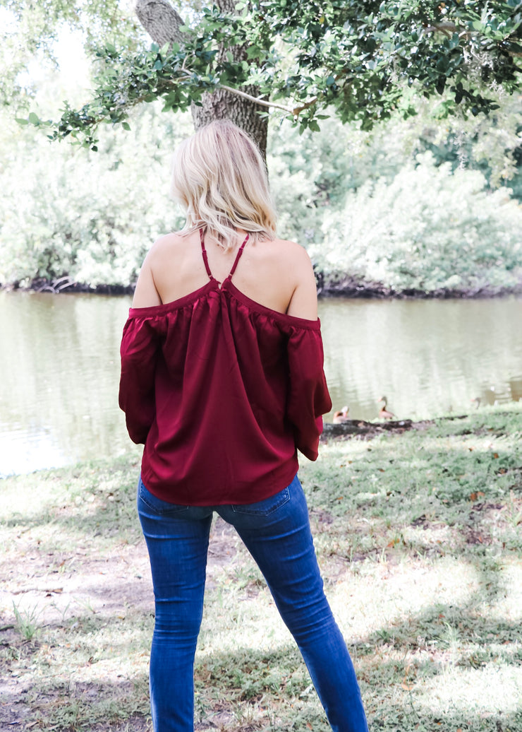 Off Shoulder Flouncy Top (3 Colors)