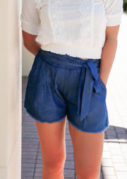 Vintage Washed High-Waisted Shorts