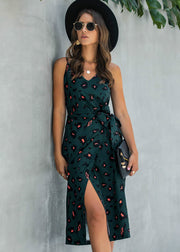 Forest Green Leopard Midi