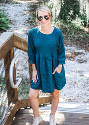 Teal Baby Doll Dress