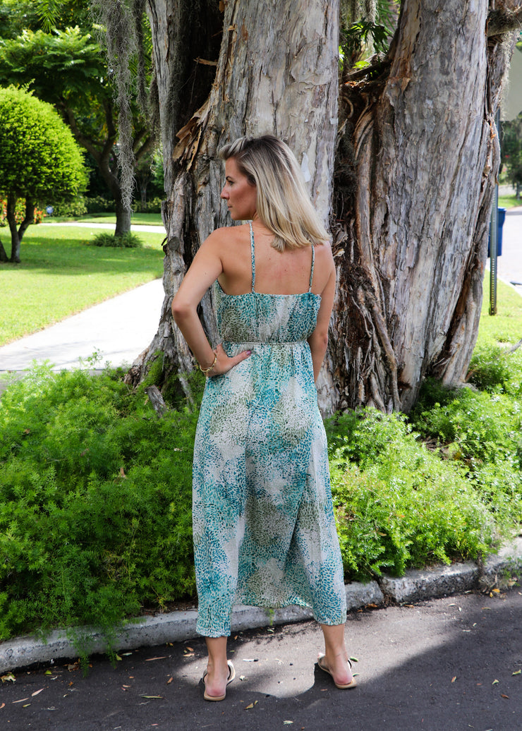 Green Halter Midi Dress