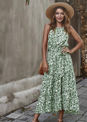 Green Polka Dot Tiered Dress