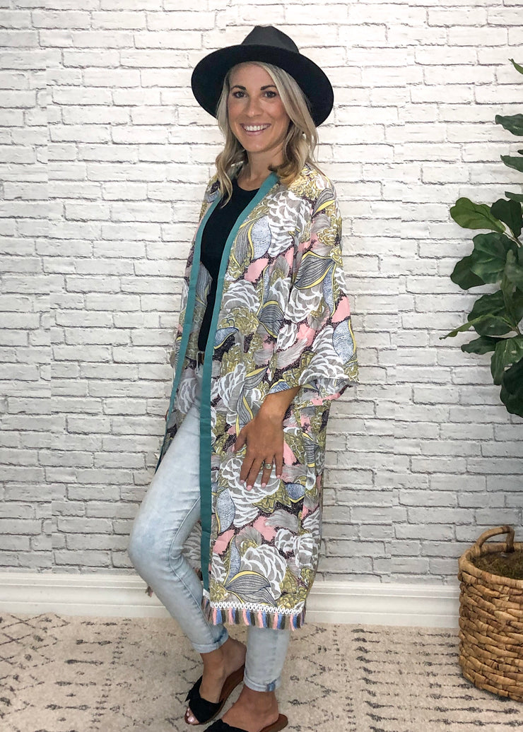 Springtime in the Fall Kimono
