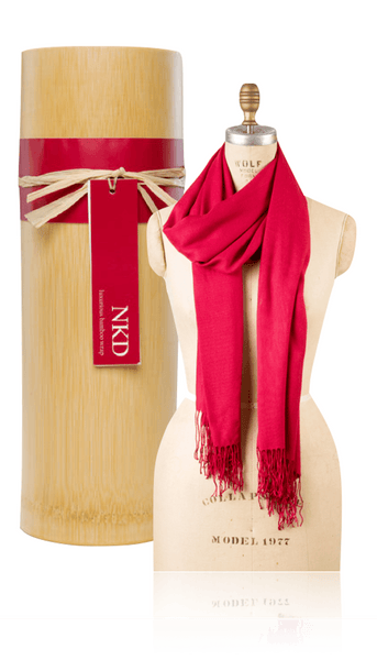 Bamboo Scarf - Red