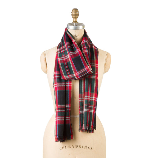 Bamboo Wool - Black Plaid