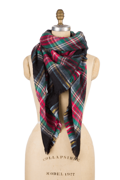 Blanket Scarf - Black