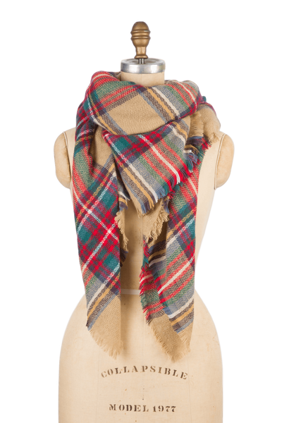 Blanket Scarf - Tan