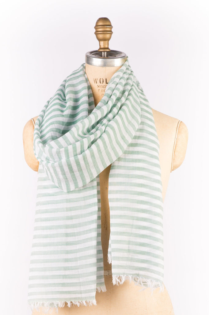 Cotton - Green Stripe