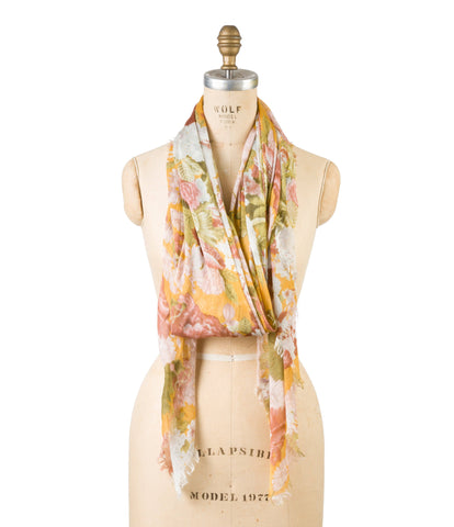 Modal Blossom Print - Golden Yellow