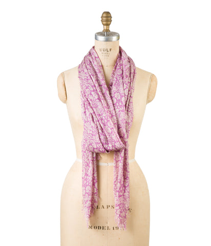 Modal Holiday Floral Print - Radiant Orchid