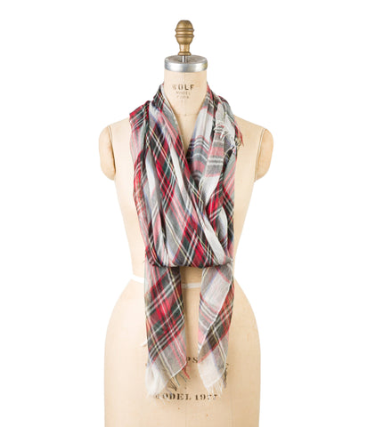 Silk Modal - White Plaid