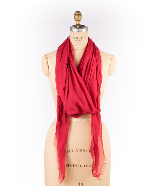 Merino Wool Modal - Red