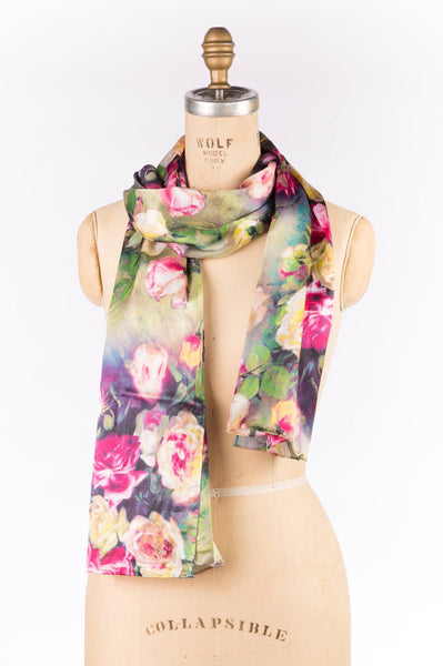 Printed Wrap - Green Rose