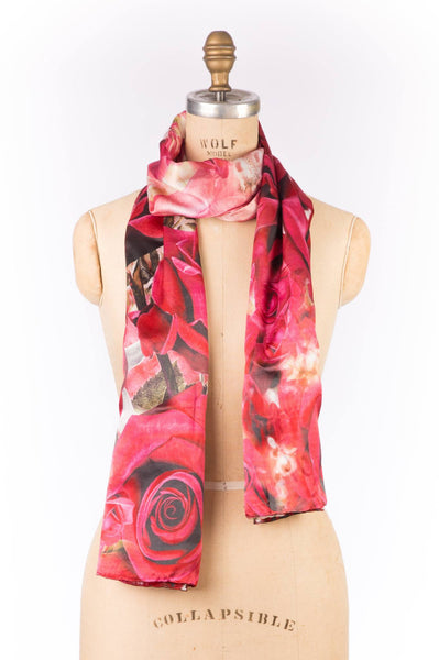 Printed Wrap - Red Rose