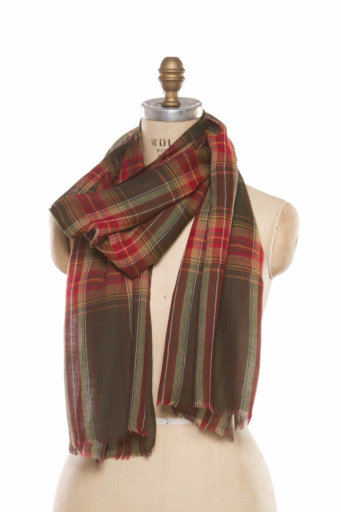 Silk Wool Plaid - Green