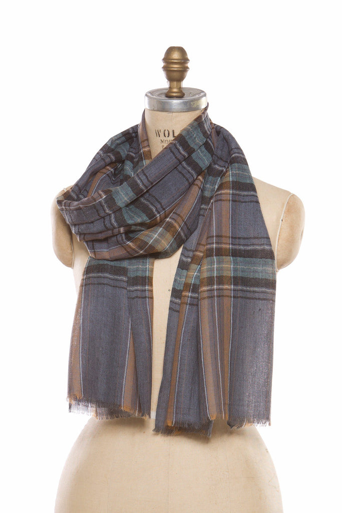 Silk Wool Plaid - Grey