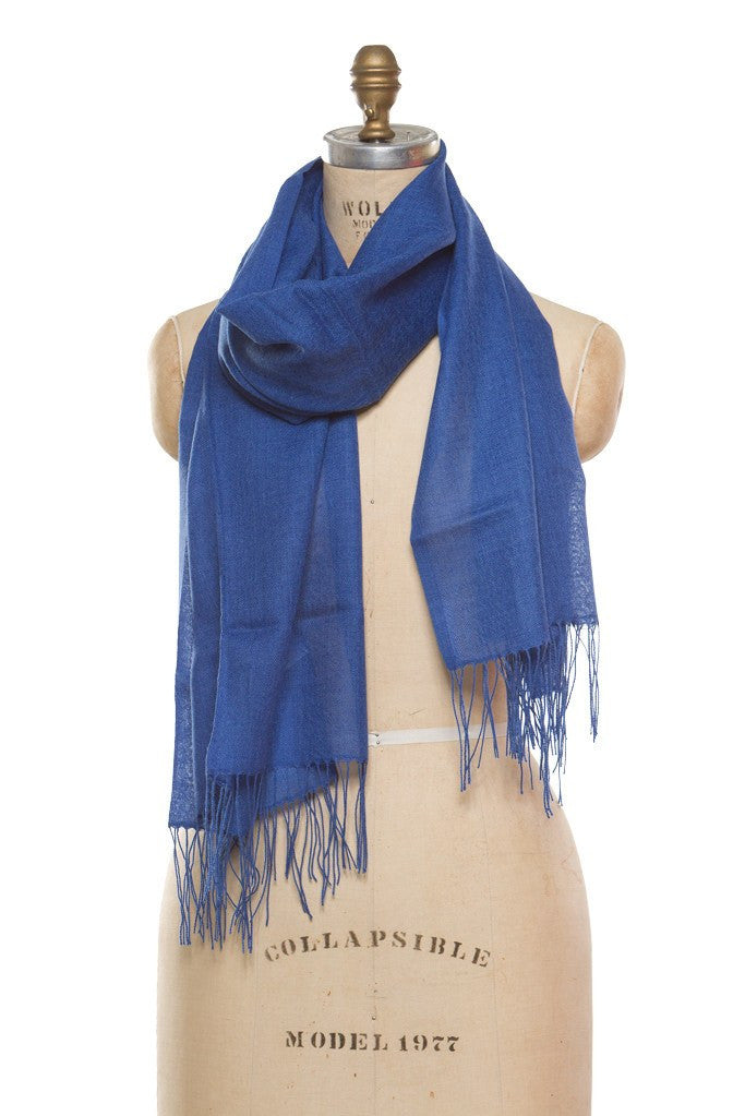 Merino Wool Wrap- Estate Blue - SOLD OUT