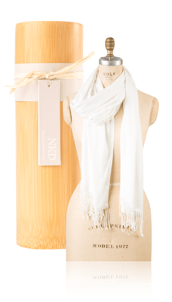 Bamboo Scarf - Ivory
