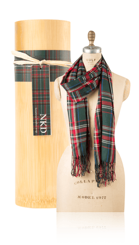Bamboo Scarf - Plaid Green