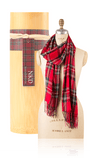Bamboo Scarf - Plaid Red