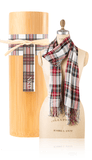 Bamboo Scarf - Plaid White