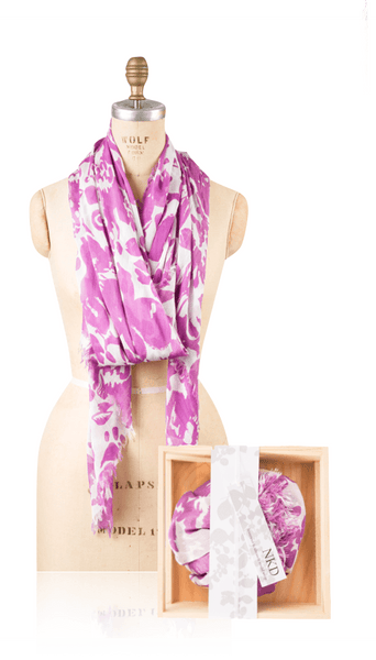 Modal Shadow Print - Radiant Orchid