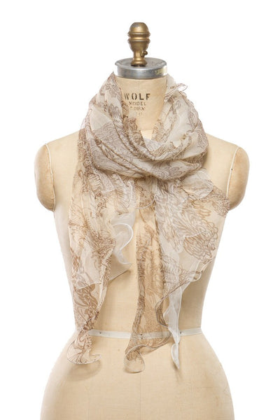 Silk Chiffon - Light Brown