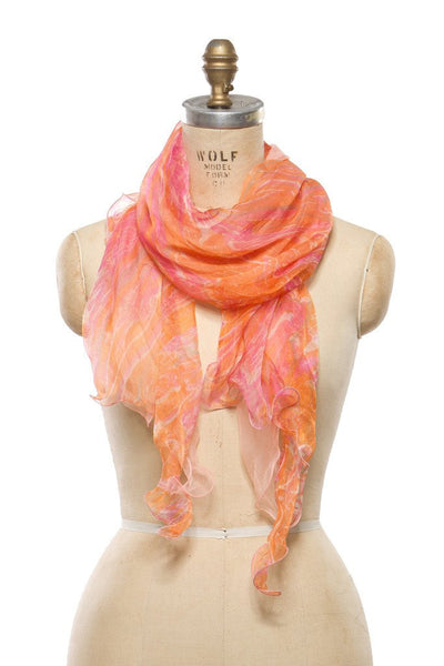 Silk Chiffon - Orange