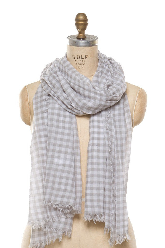 Cotton - Grey Check