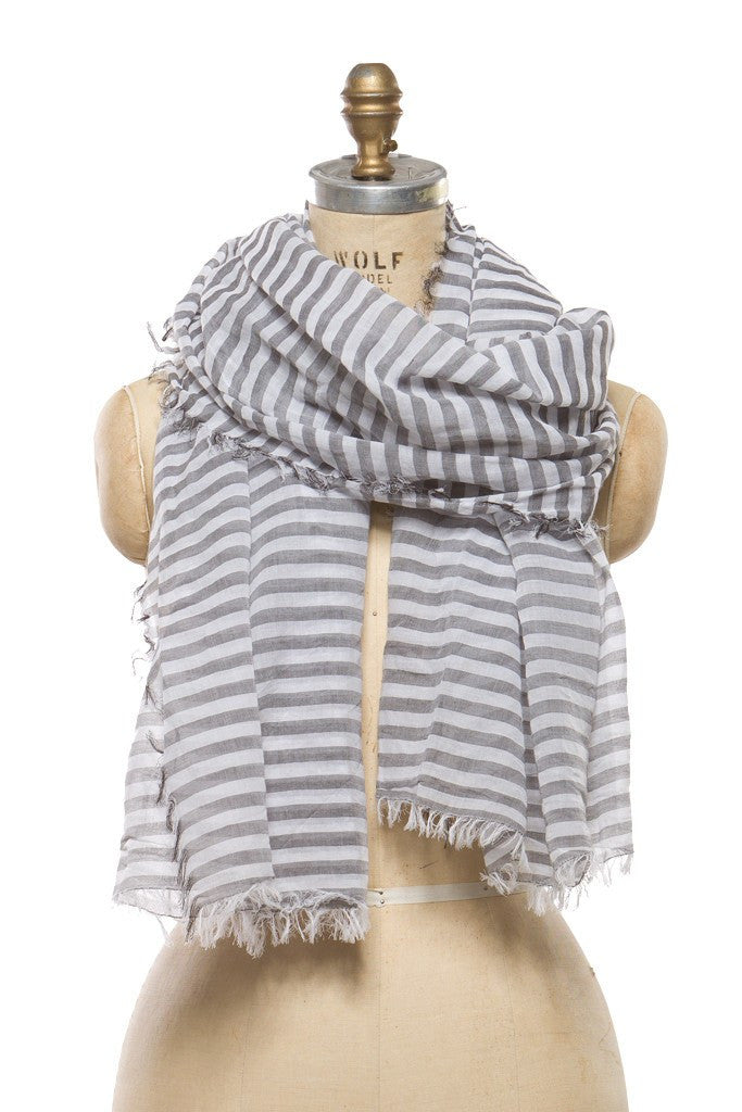 Cotton - Grey Stripe