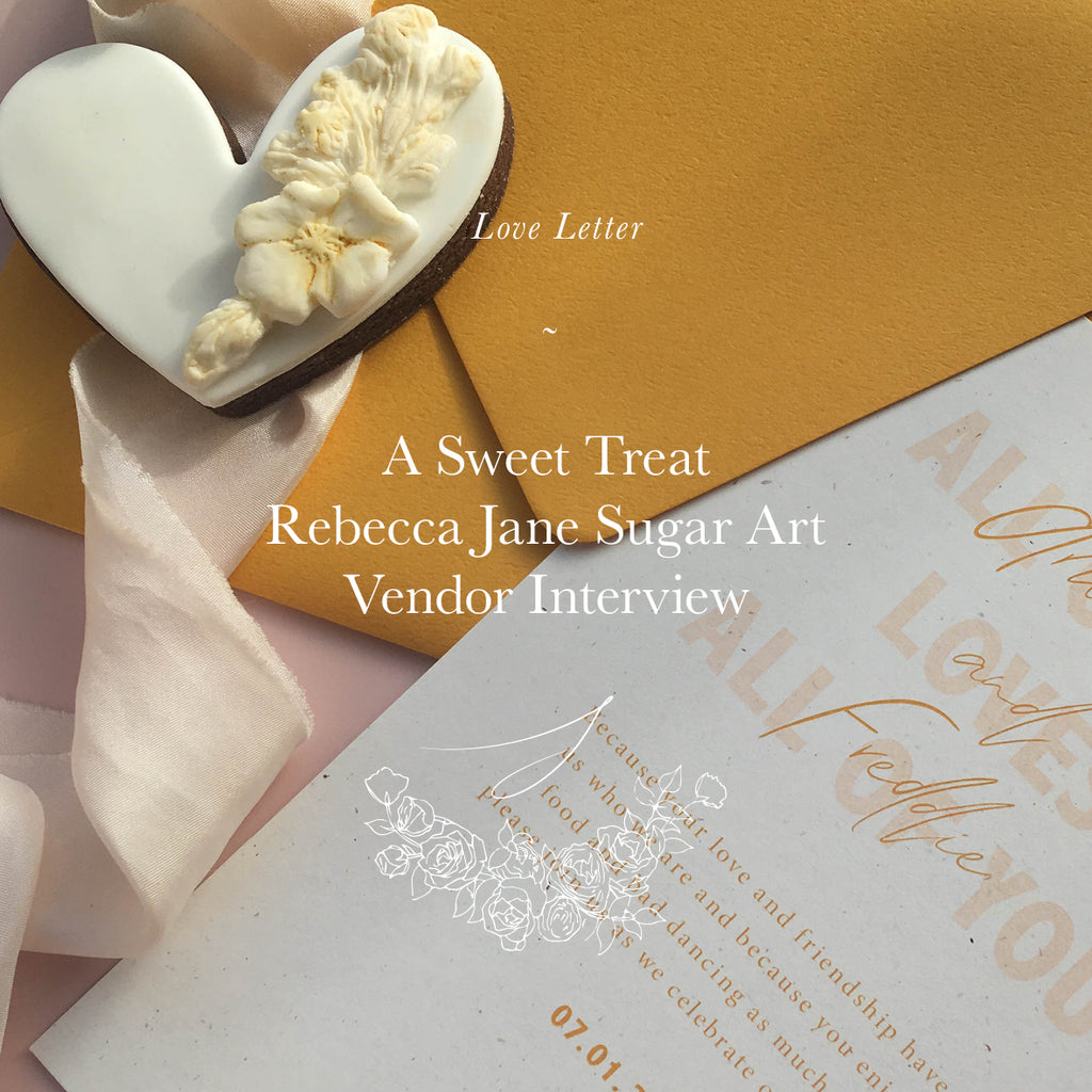 A Sweet Treat -Vendor Interview with Rebecca Jane Sugar Art