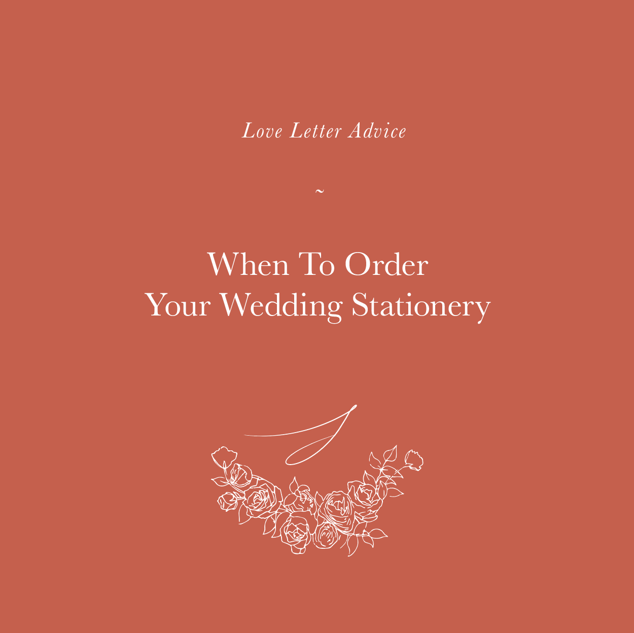 When To Order Your Wedding Stationery