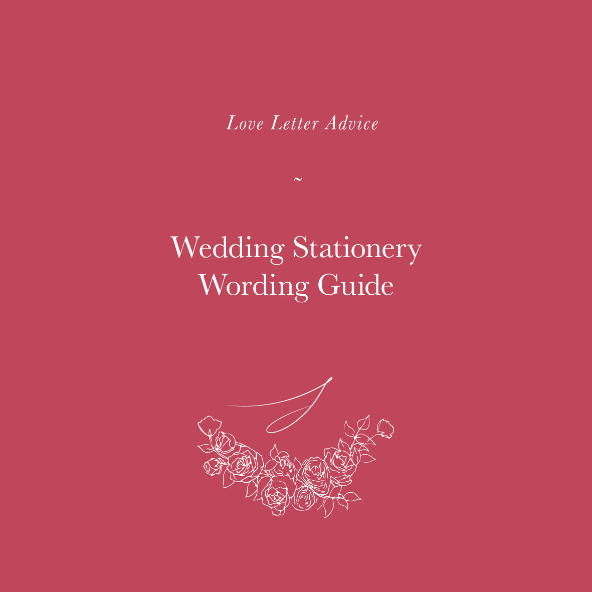 Wedding Stationery Wording Guide