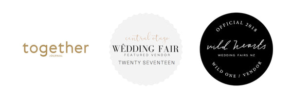 Featured on Together Journal, Wild Hearts Wedding Fairs, Central Otago Wedding Fair