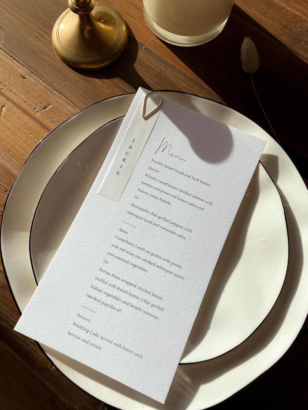 Classic Type Menu with Guest Tag
