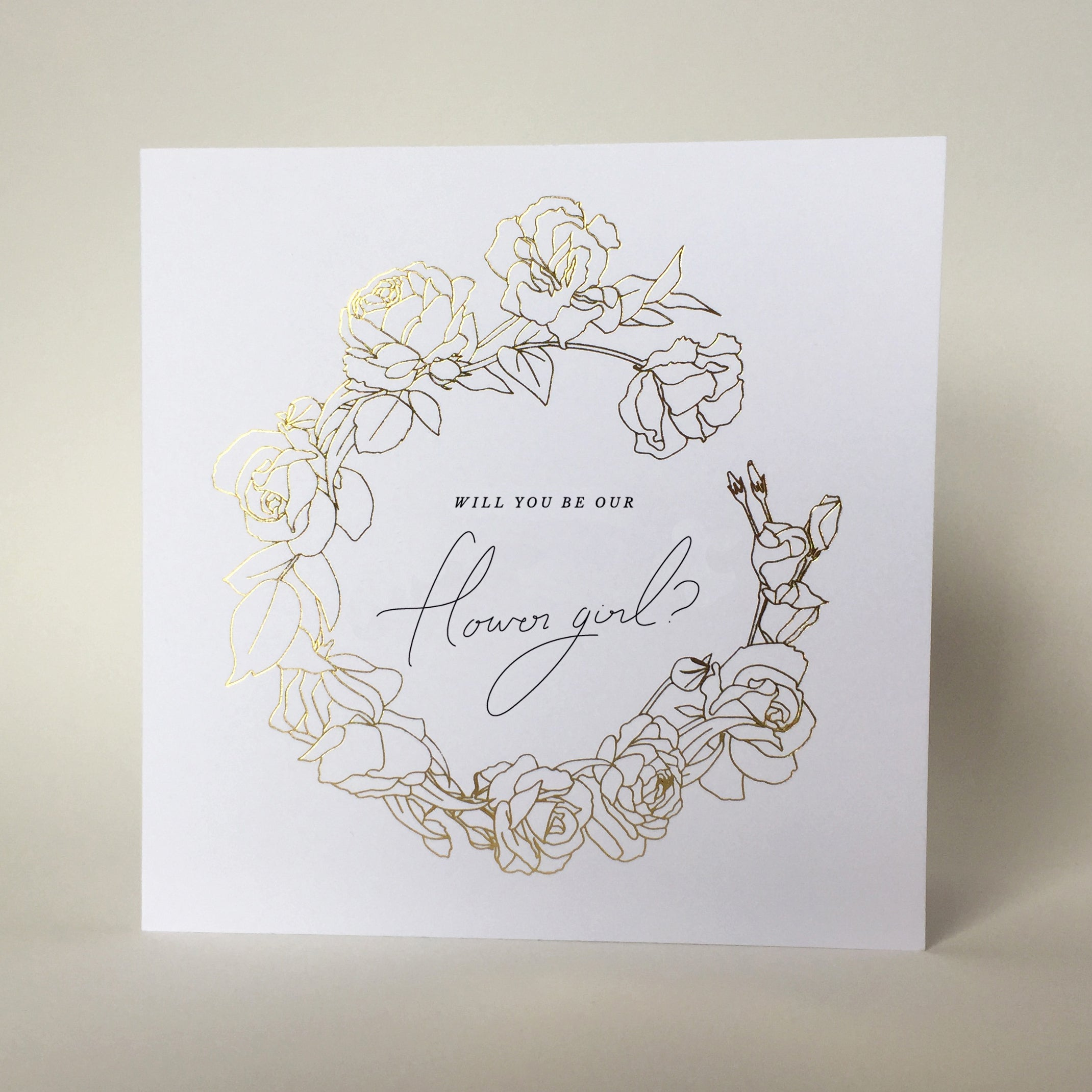 Will You Be Our Flower Girl Gift Card