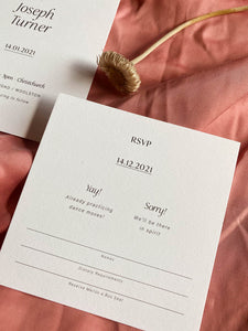 Laura RSVP Card