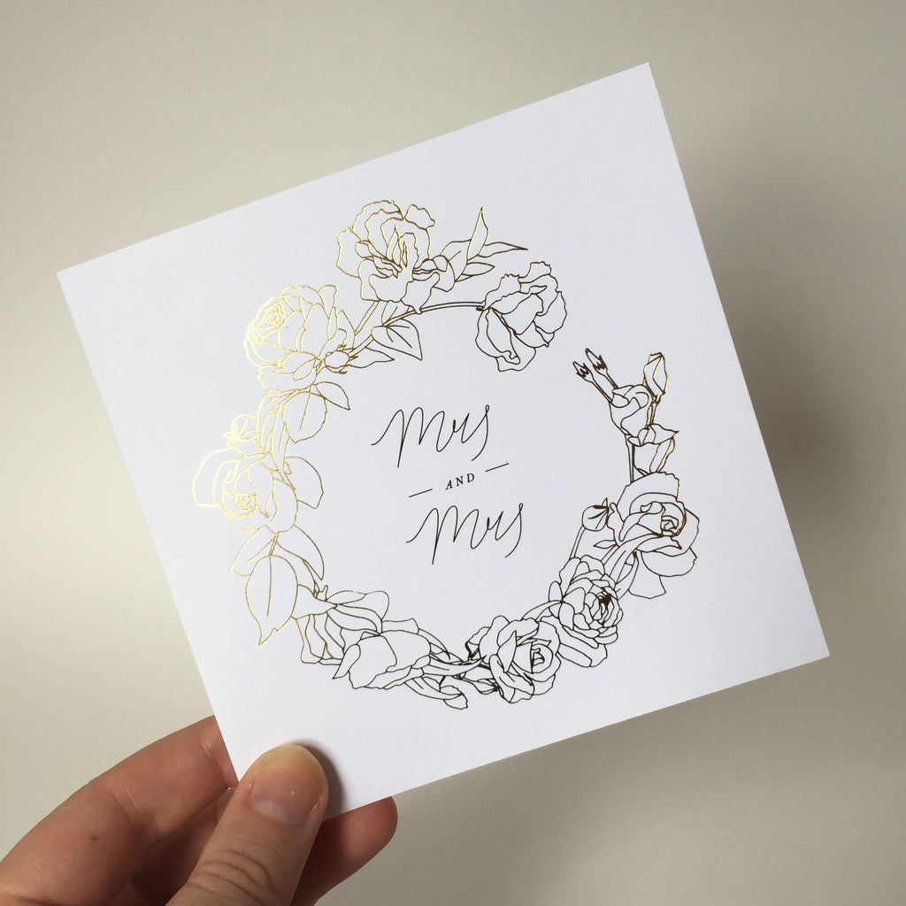 Mrs and Mrs Gift Card